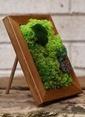 Natur:re Çevre Dostu Çerçeveli Çiçekle Süslü Tablo Yeşil